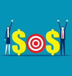 Business working team with sos message assistance vector