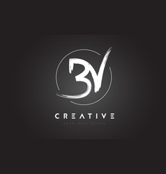 bv brush letter logo design artistic handwritten vector image