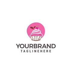 cake and cookies logo design template vector image