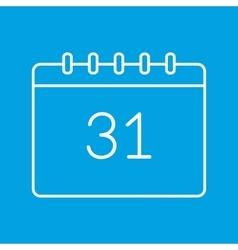 Calendar thin line icon vector