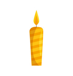 Candle fire light vector