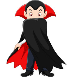 cartoon vampire character vector image