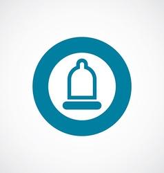 Condom icon bold blue circle border vector
