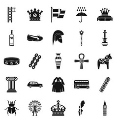 Coronate icons set simple style vector