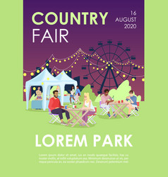 Country fair brochure template summer festival vector