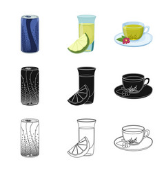 Design of drink and bar icon collection of vector