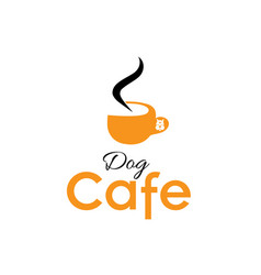 Dog cafe vector