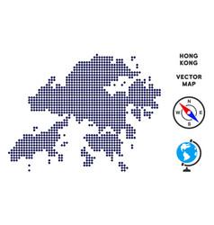 Dot hong kong map vector