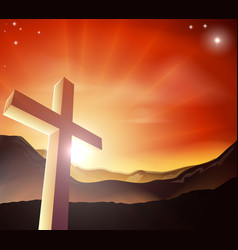 Easter cross concept vector