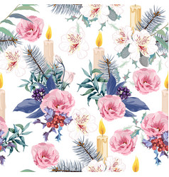 elegant christmas seamless pattern vector image
