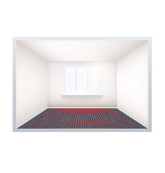 empty room with heating floor and window vector image