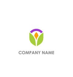 flower beauty organic logo vector image