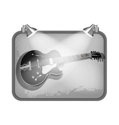 Frame with lighting and guitar vector