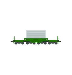 freight cargo train heavy railway transport vector image
