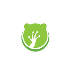 Frog logo template vector