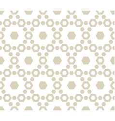 geometric seamless pattern with hexagons subtle vector image