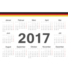 German circle calendar 2017 vector
