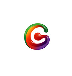 global creative colorful g letter logo vector image