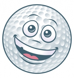 Golf ball cartoon character vector
