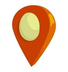 GPS icon cartoon style vector