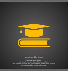 graduation cap icon simple book element symbol vector image