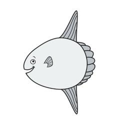 Happy Mola Fish Cartoon vector image