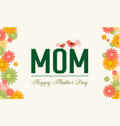 Happy mother day style cute background vector