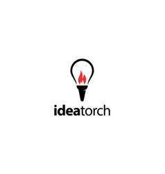idea torch logo design concept vector image