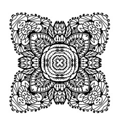 image doodle drawing for coloring the mandala vector image