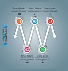 Infographic icons arrows icon vector
