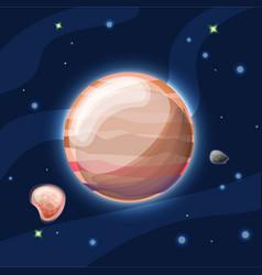Jupiter cartoon light orange vector