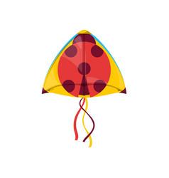 Ladybird shape kite uttarayan festival symbol vector