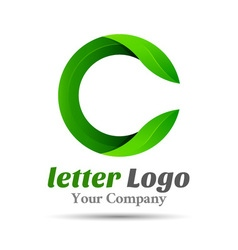Letter C eco leaves logo icon Volume Logo Colorful vector image vector image