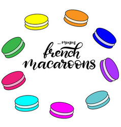 Macaroon with lettering vector