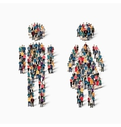 man woman people symbol vector image