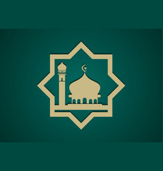 Mosque islamic ramadan kareem logo vector