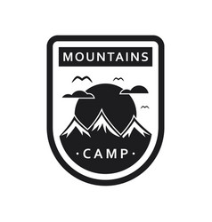 mountain camping template vector image