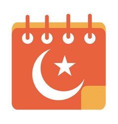 Muslim calendar ramadan arabic islamic celebration vector
