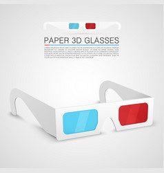 paper 3d glasses vector image
