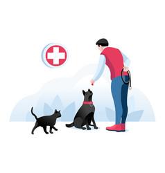 pet big concept doctor man vector image