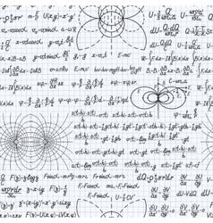 Physics seamless pattern backdrop notebook vector
