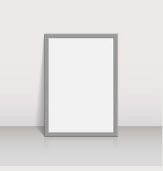 Picture frame on a white wall 3d background design vector