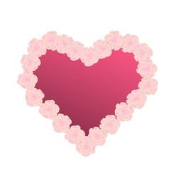 pink flower heart vector image