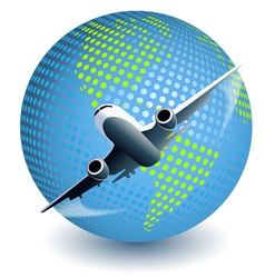 plane globe vector image