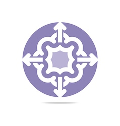 Purple arch element design abstract icon vector
