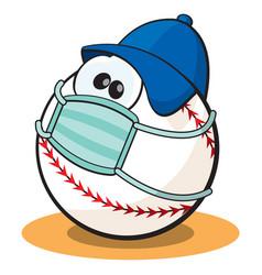 Quarantine baseball vector