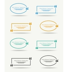 Quotation Speech banner vector