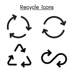 Recycle icon set in flat style vector