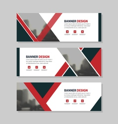 Red black triangle corporate business banner vector