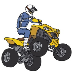 Rider on atv vector